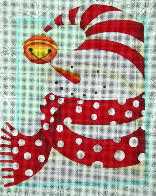 click here to view larger image of Cozy Snowman (hand painted canvases)