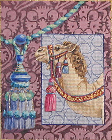 click here to view larger image of Camel on Purple (hand painted canvases)