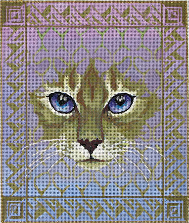 click here to view larger image of Cat Face (hand painted canvases)