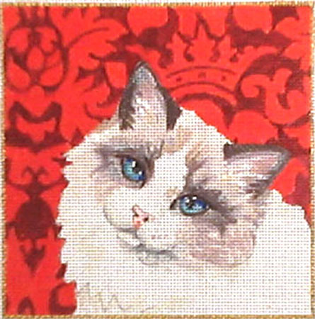 click here to view larger image of Kitty on Red (hand painted canvases)