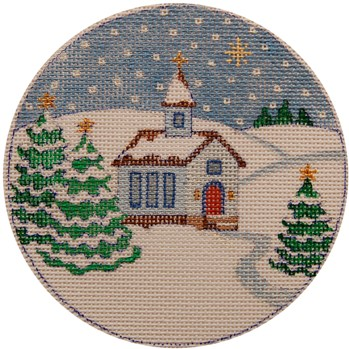 click here to view larger image of Country Church ornament (hand painted canvases)