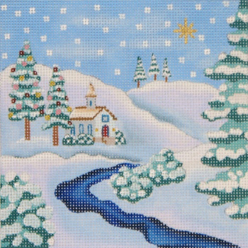 click here to view larger image of Christmas Stream (hand painted canvases)