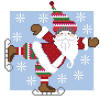 click here to view larger image of Santa Skater (hand painted canvases)