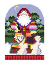 click here to view larger image of Arctic Santa (hand painted canvases)