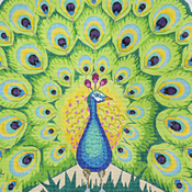 click here to view larger image of Peacock (hand painted canvases)