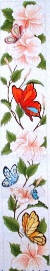click here to view larger image of Butterfly and Hibiscus (18M) (hand painted canvases)