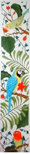 click here to view larger image of Exotic Birds (18M) (hand painted canvases)