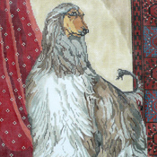 click here to view larger image of Afghan Hound (hand painted canvases)