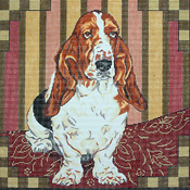 click here to view larger image of Basset Hound (hand painted canvases)