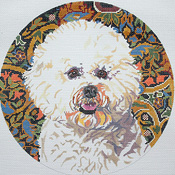 click here to view larger image of Bichon Frise II (hand painted canvases)