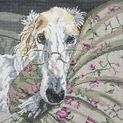 click here to view larger image of Arthur, The Borzoi (hand painted canvases)