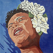 click here to view larger image of Billie Holiday (hand painted canvases)