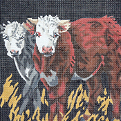 click here to view larger image of Three Cows (hand painted canvases)