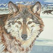 click here to view larger image of The Wolf (hand painted canvases)