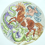 click here to view larger image of St. George & Dragon (hand painted canvases)
