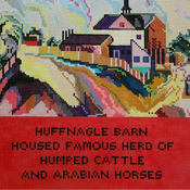 click here to view larger image of Hood Stair Runner — Huffnagle Barn (hand painted canvases)