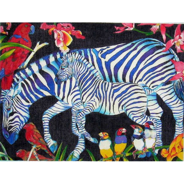 click here to view larger image of Zebra Mother & Baby (hand painted canvases)