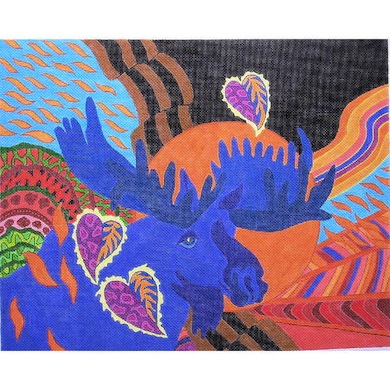 click here to view larger image of Moose (hand painted canvases)
