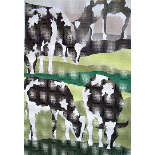 click here to view larger image of Grazing Cows (hand painted canvases)