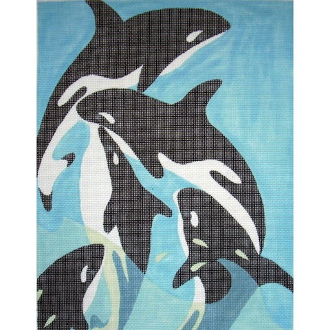 click here to view larger image of Orcas (hand painted canvases)