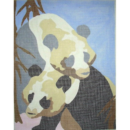 click here to view larger image of Mother & Baby Panda (hand painted canvases)