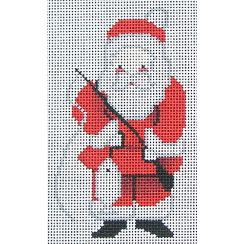 click here to view larger image of Fishing Santa Ornament (hand painted canvases)