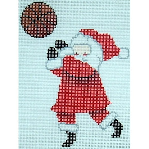 click here to view larger image of Basketball Santa (hand painted canvases)