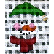click here to view larger image of Bell Cap Snowman Face (hand painted canvases)