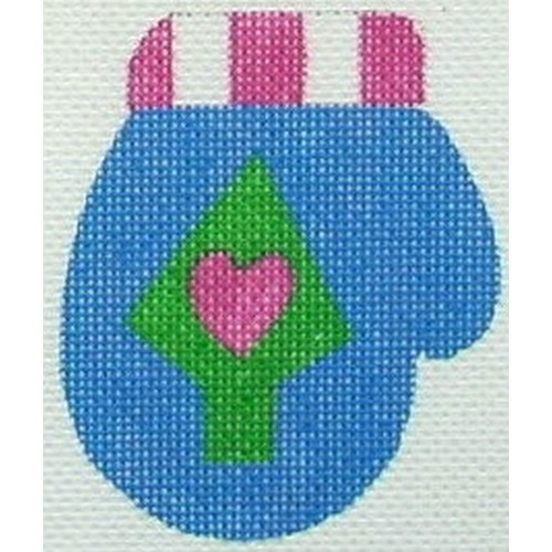 click here to view larger image of Blue Mitten (hand painted canvases)