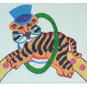 click here to view larger image of Circus Tiger (hand painted canvases)