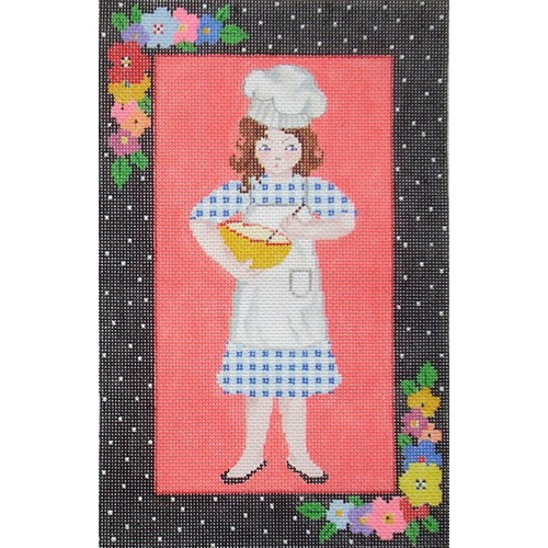 click here to view larger image of Baking Girl (hand painted canvases)