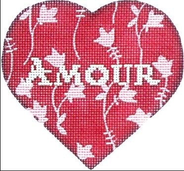 click here to view larger image of Amour Heart (hand painted canvases)