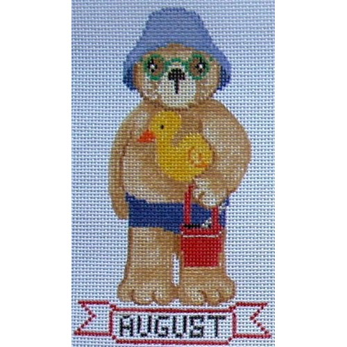 click here to view larger image of August Teddy Bear (hand painted canvases)