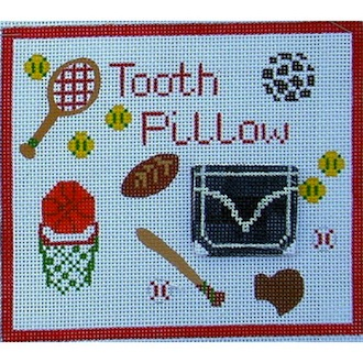 click here to view larger image of Boy Tooth Pillow (hand painted canvases)