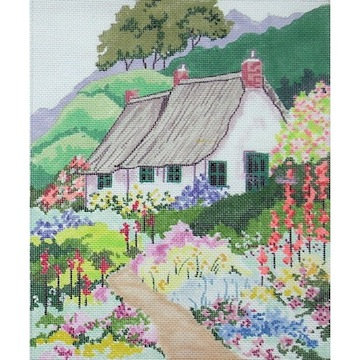 click here to view larger image of Country Cottage - Spring (hand painted canvases)