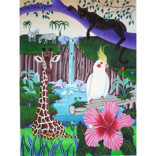 click here to view larger image of African Paradise (hand painted canvases)