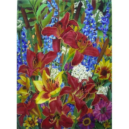 click here to view larger image of Floral Summers End II (hand painted canvases)