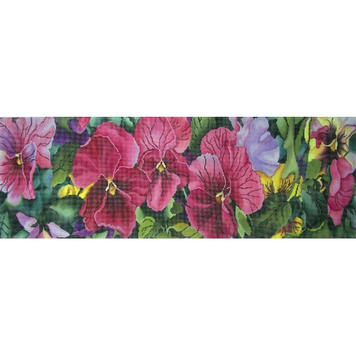 click here to view larger image of Pink Pansies (hand painted canvases)