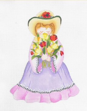 click here to view larger image of Flower Girl -  Tulips (hand painted canvases)