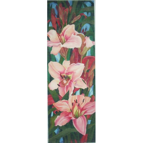 click here to view larger image of Daylily Dreams (hand painted canvases)