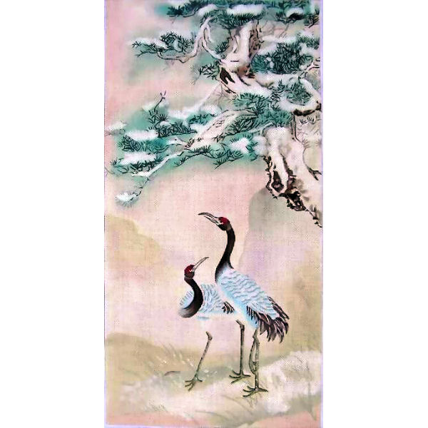 click here to view larger image of Cranes (hand painted canvases)