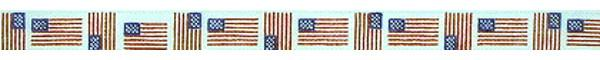 click here to view larger image of American Flag (hand painted canvases)