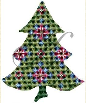 click here to view larger image of Green Scandinavian Snowflake Tree Stitch Guide (books)
