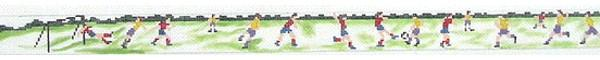 click here to view larger image of Soccer Scene (hand painted canvases)