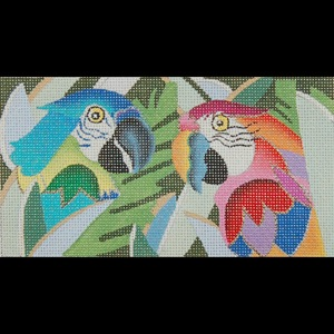 click here to view larger image of Jeweled Parrots (hand painted canvases)