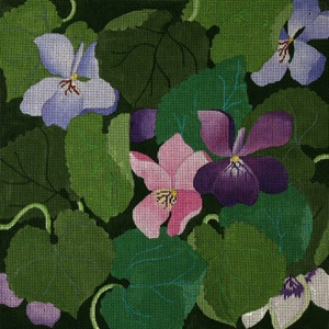 click here to view larger image of Giant Violets (hand painted canvases)
