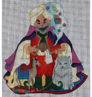 click here to view larger image of Arabian Nights Santa (front only) (hand painted canvases)