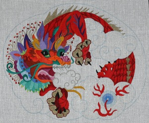 click here to view larger image of Chinese New Year Red Dragon (hand painted canvases)