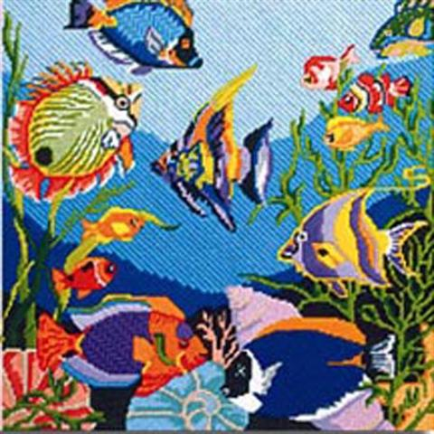 click here to view larger image of Tropical Fish (hand painted canvases)
