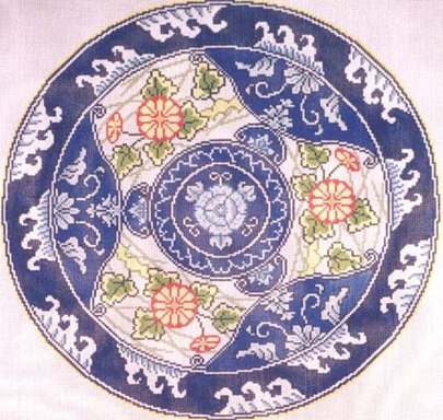 click here to view larger image of Round Imari (hand painted canvases)